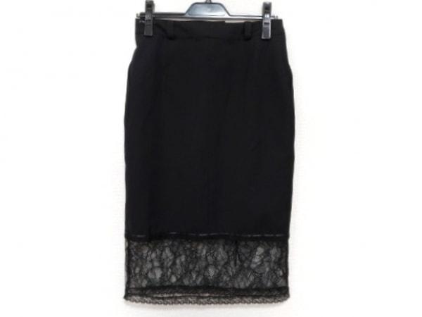 クリスチャンディオール スカート サイズ40(I) M レディース新品同様  黒 レース