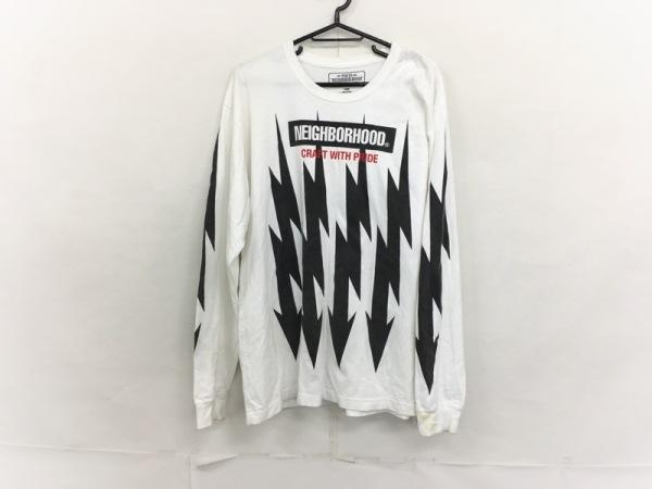 NEIGHBORHOOD(ネイバーフッド) 長袖カットソー メンズ 白×黒