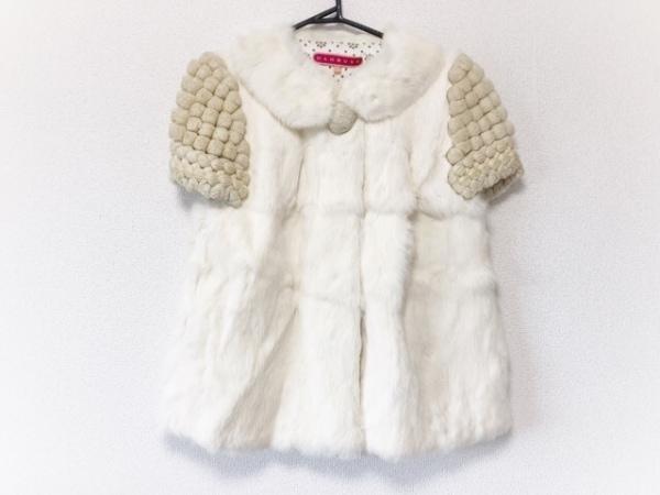 MANOUSH(マヌーシュ) コート サイズ38 M レディース美品  白×アイボリー×ゴールド