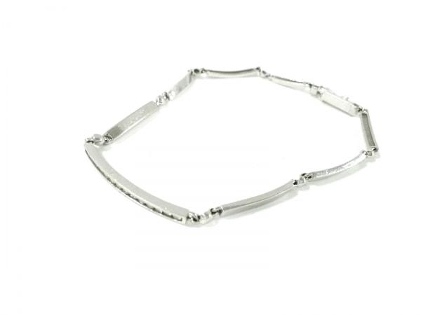 ノーブランド ブレスレット美品  K18WG×ダイヤモンド クリア 総重量6.0g/0.238刻印