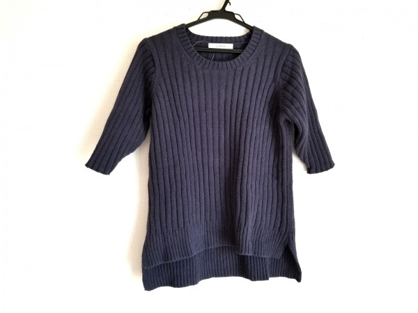 CINOH(チノ) 半袖セーター サイズ38 M レディース ネイビー