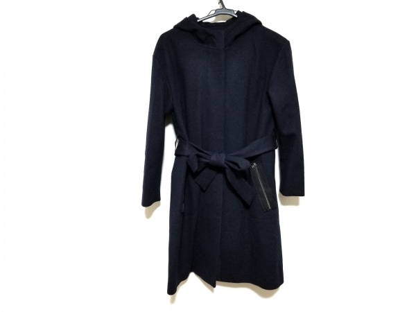 ランバンオンブルー コート サイズ36 S レディース美品  ダークネイビー 冬物