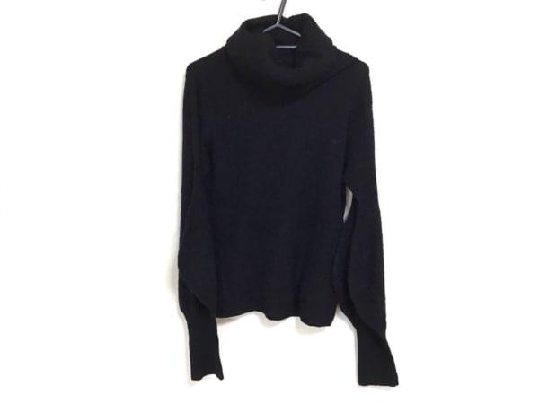 アニヤハインドマーチ 長袖セーター サイズS レディース 黒 タートルネック/カシミヤ