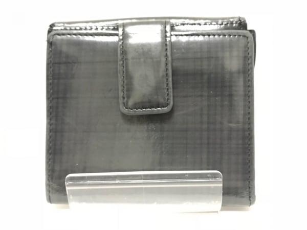 VIASAZABY(ヴィアサザビー) 2つ折り財布 グレー×ダークグレー レザー