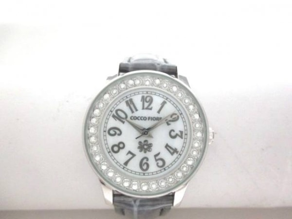 コッコフィオーレ 腕時計 - レディース 革ベルト/ラインストーン/シェル文字盤