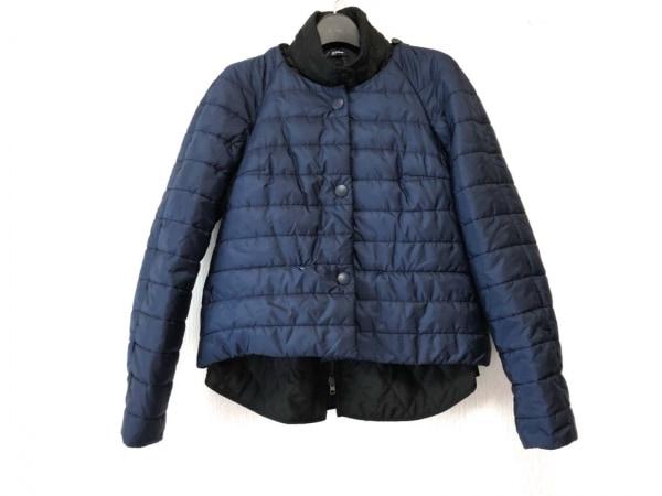 ジルサンダー ダウンジャケット サイズ32 XS レディース ネイビー×黒 NAVY/冬物