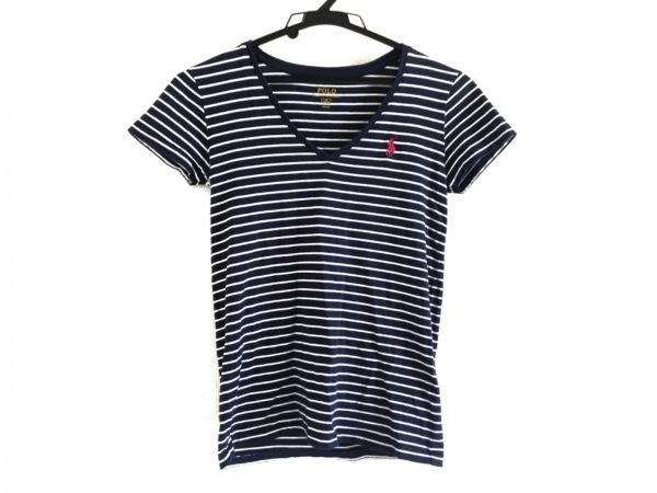 ポロラルフローレン 半袖Tシャツ サイズXS レディース美品  ネイビー×白 ボーダー