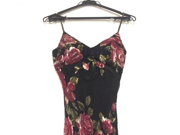SUEWONG(スーウォン) ドレス サイズ2 M レディース 黒×レッド×グリーン 花柄