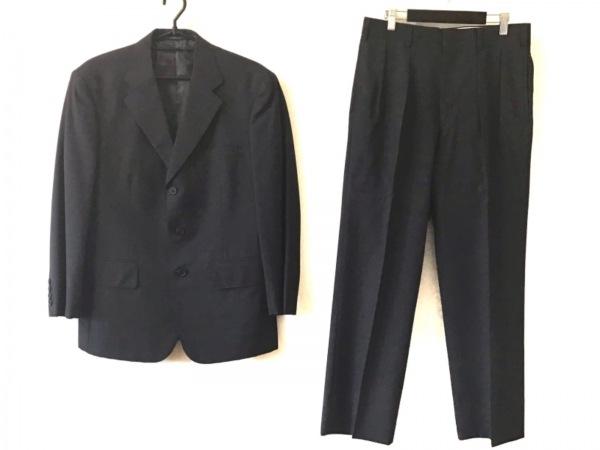 J.PRESS(ジェイプレス) シングルスーツ メンズ ダークグレー×ライトグレー