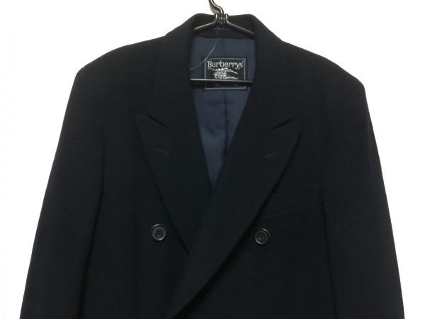 バーバリーズ コート メンズ ダークネイビー 冬物/ロング丈/ネーム刺繍あり
