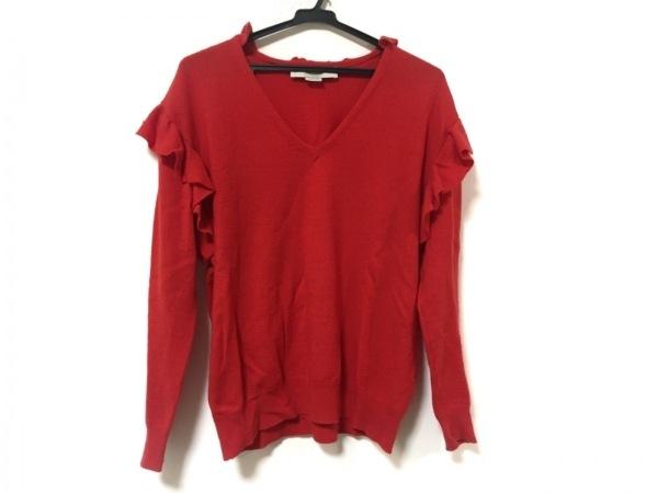 ステラマッカートニー 長袖セーター サイズ38 L レディース美品  レッド フリル