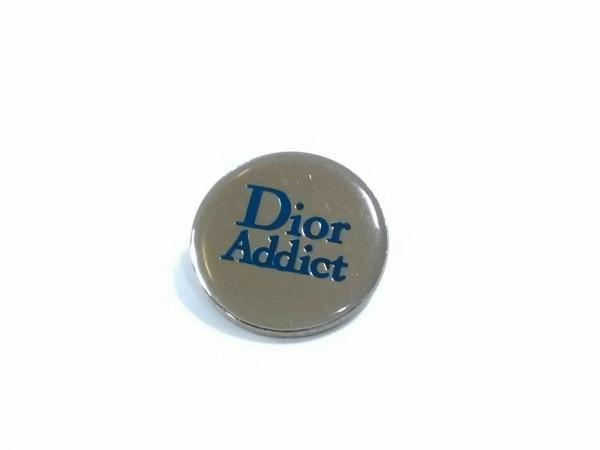 Dior Addict(ディオールアディクト) ブローチ 金属素材 ゴールド×グリーン