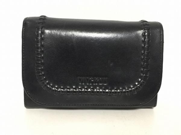 VIVAYOU(ビバユー) 2つ折り財布 黒 レザー