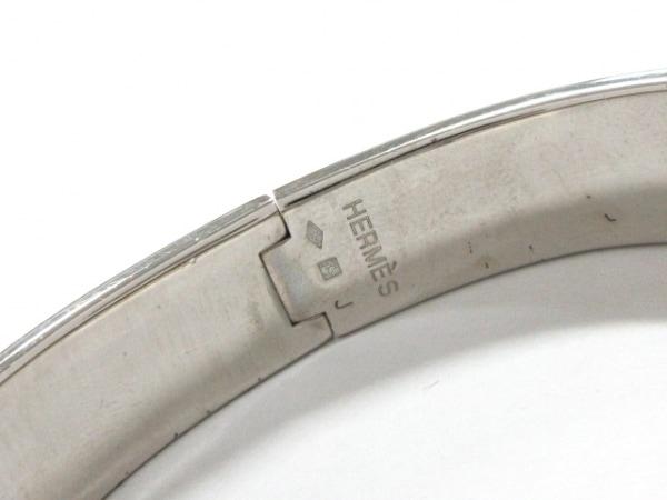 エルメス バングル クリッククラック 金属素材 シルバー×ピンク 5