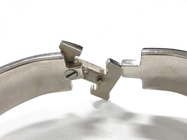 エルメス バングル クリッククラック 金属素材 シルバー×ピンク 6