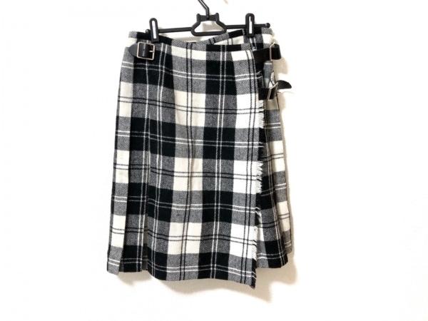 O'NEIL(オニール) 巻きスカート サイズ42(I) M レディース美品  アイボリー×黒