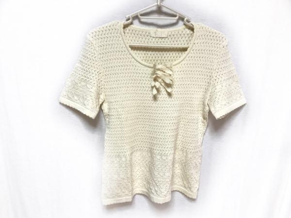 INGEBORG(インゲボルグ) 半袖セーター サイズS レディース アイボリー リボン