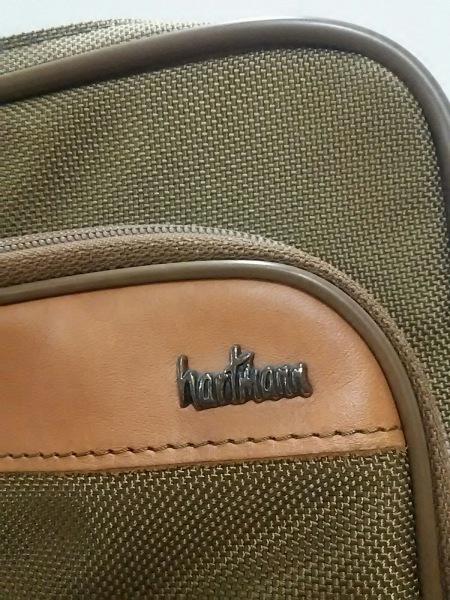hartmann(ハートマン) ビジネスバッグ カーキ×ブラウン ナイロン×レザー