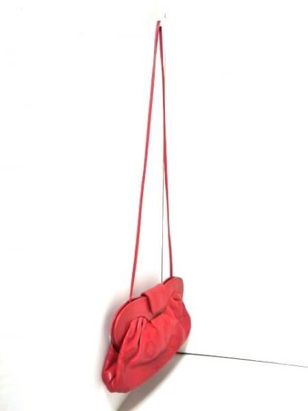 braccialini(ブラッチャリーニ) ショルダーバッグ レッド 刺繍 レザー