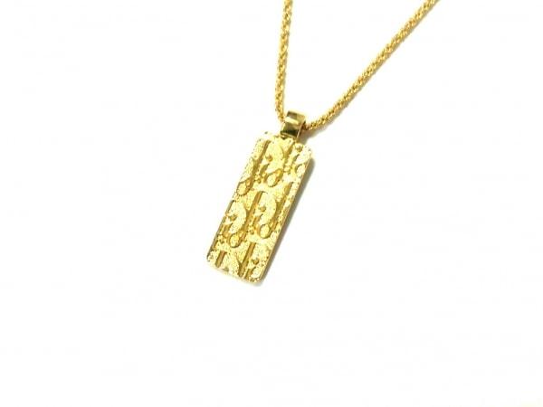 クリスチャンディオール ネックレス美品  金属素材×ラインストーン ゴールド×クリア