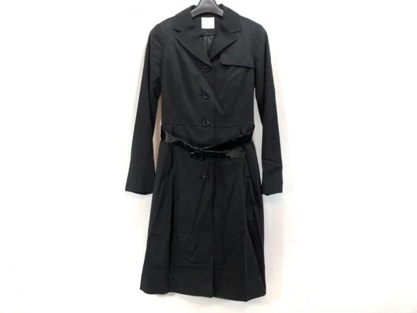 プライベートレーベル コート サイズS レディース美品  黒 ライナー付き/春・秋物