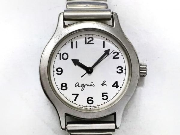 agnes b(アニエスベー) 腕時計 Y483-0120 レディース 白
