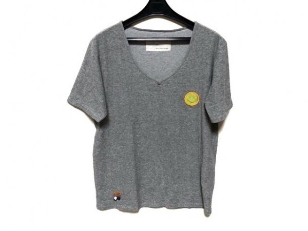 ジレ 半袖Tシャツ サイズ4 XL メンズ美品  グレー×ライトグリーン×マルチ パイル