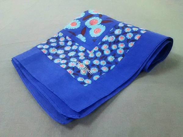 ケイトスペード ストール(ショール)美品  ブルー×ライトブルー×マルチ 花柄