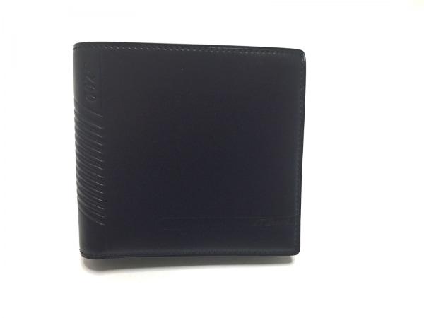 Dupont(デュポン) 2つ折り財布新品同様  黒 JAMES BOND007 レザー