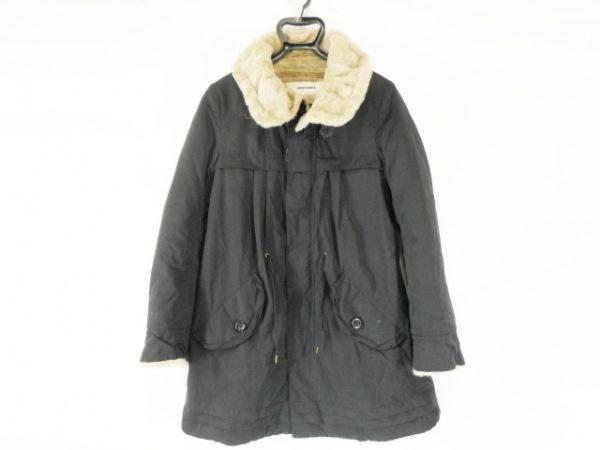 SUPER HAKKA(スーパーハッカ) コート レディース 黒×ライトブラウン 冬物