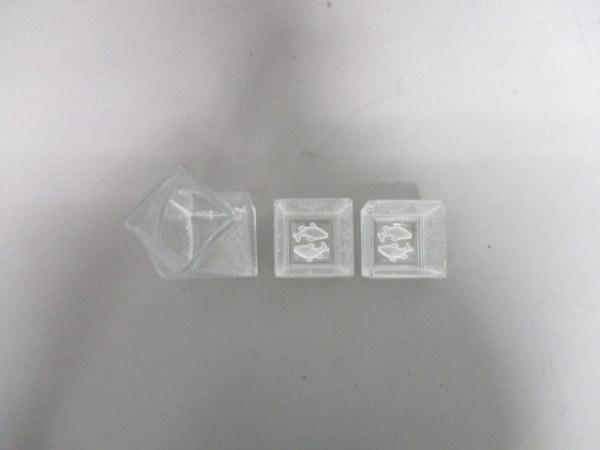 ホヤクリスタル 食器新品同様  クリア ミルクピッチャー/小物入れ×2 ガラス