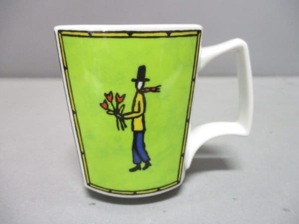 Rosenthal(ローゼンタール) マグカップ新品同様  白×ライトグリーン×マルチ 陶器