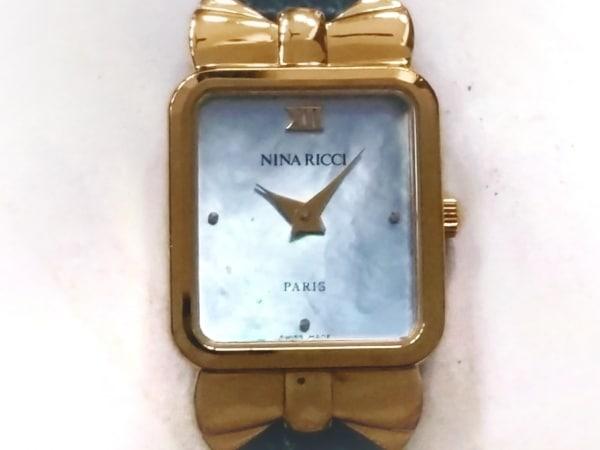 NINARICCI(ニナリッチ) 腕時計 D950 レディース シェル文字盤 シェルブルー