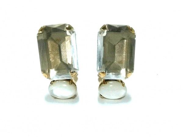 PHILIPPE FERRANDIS(フィリップフェランディス) イヤリング 金属素材×カラーストーン