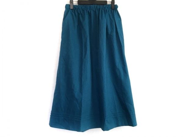 COCUE(コキュ) スカート レディース美品  ネイビー ウェストゴム