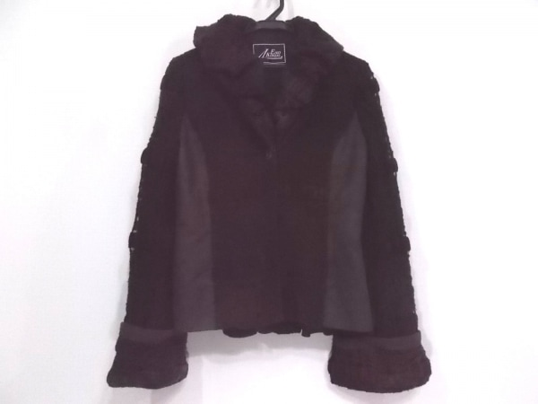 EIKO KONDO(エイココンドウ) ジャケット サイズ42 L レディース美品  ダークブラウン