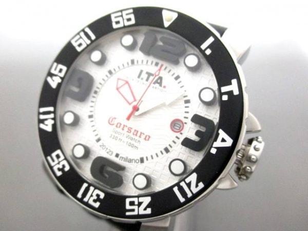 アイティーエー 腕時計 コルサロ 13.01.04 メンズ SS/ラバーベルト シルバー