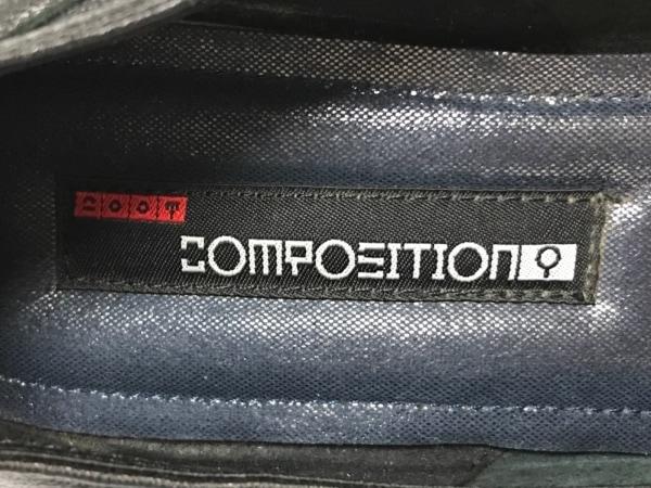 COMPOSITION(コンポジション) パンプス レディース 黒 ウェッジソール レザー