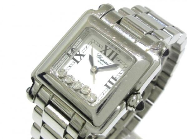 ショパール 腕時計 ハッピースポーツ スクエアミニ 27/8893-23 レディース 白