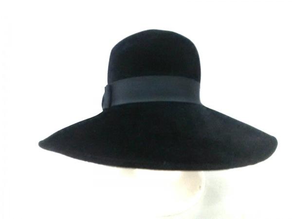 VOGUE(ヴォーグ) ハット美品  黒 リボン ベロア