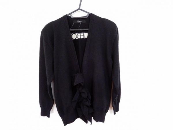 INGEBORG(インゲボルグ) 長袖セーター レディース 黒×アイボリー 肩パッド/フリル