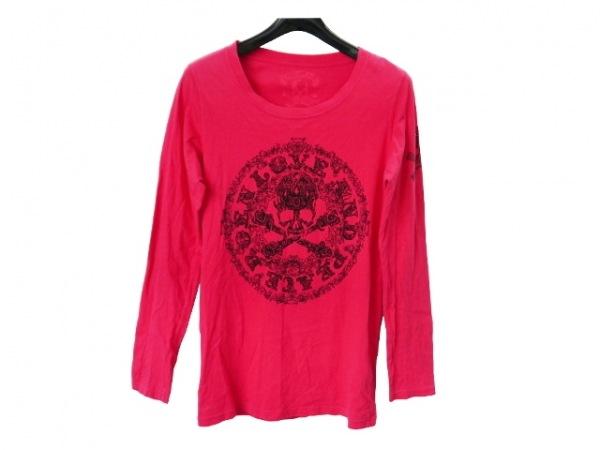 Roen(ロエン) 長袖Tシャツ サイズ44 L メンズ レッド×黒 スカル/スタッズ