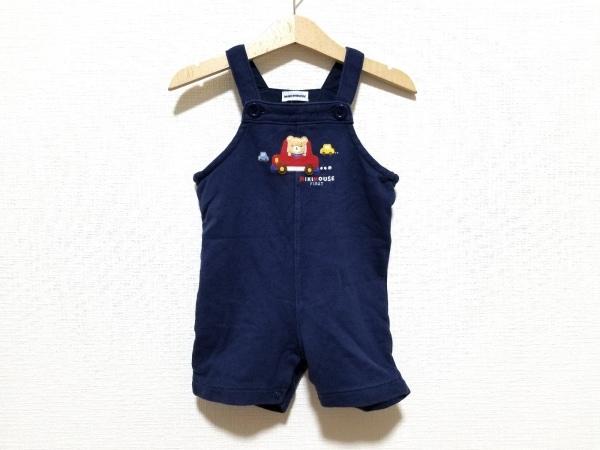 ミキハウス オールインワン サイズF(70-80) メンズ ネイビー×マルチ 子供服
