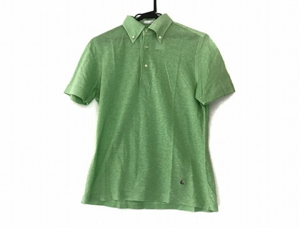 Guy Rover(ギローバー) 半袖ポロシャツ サイズL メンズ美品  ライトグリーン