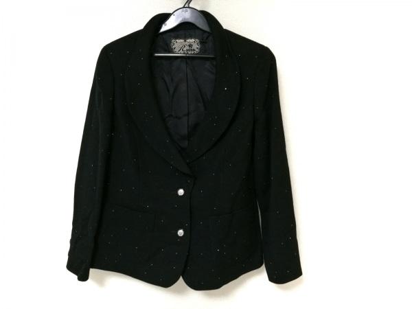ROSSA(ロッサ) ジャケット レディース 黒 ラインストーン