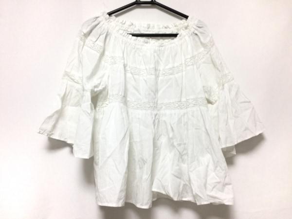 NE QUITTEZ PAS(ヌキテパ) 長袖カットソー レディース 白 ギャザー/レース