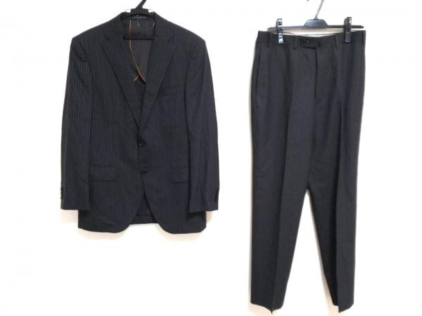 ヒルトン シングルスーツ サイズ94A6 メンズ 黒×ダークブラウン×ライトグレー