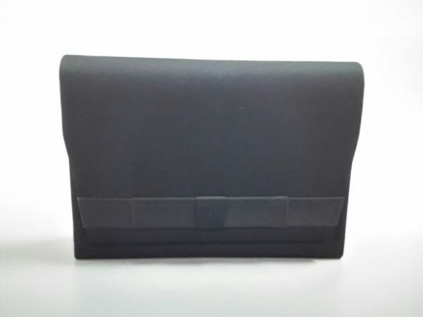 PETITSOIR(プチソワール) ハンドバッグ美品  黒 リボン/2way 化学繊維