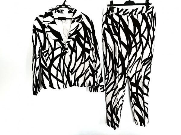 ESCADA(エスカーダ) レディースパンツスーツ サイズ40 XL レディース 白×黒