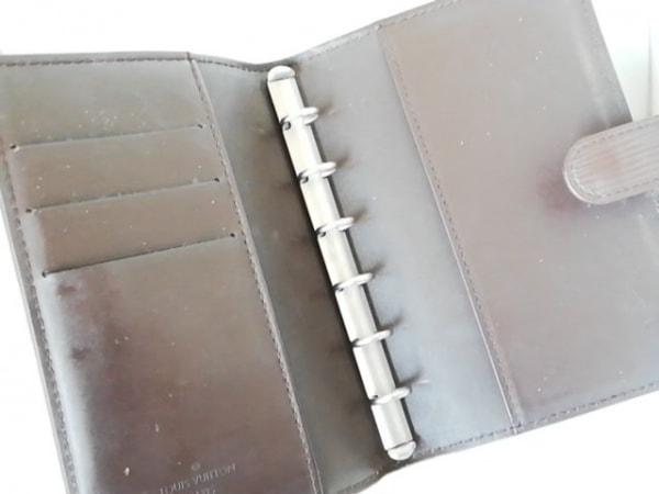 ルイヴィトン 手帳 エピ アジェンダPM R2005D モカ レザー(LVロゴの刻印入り)